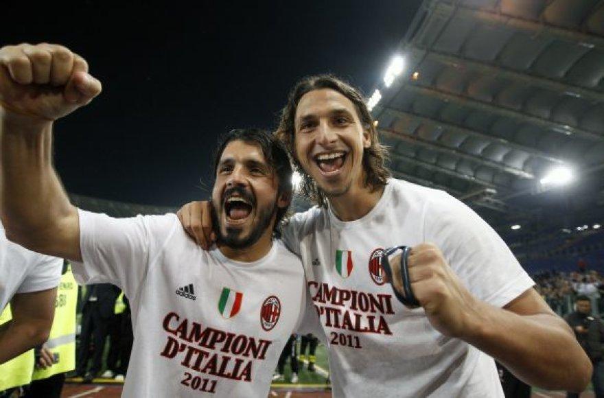 Gennaro Gattuso ir Zlatanas Ibrahimovičius