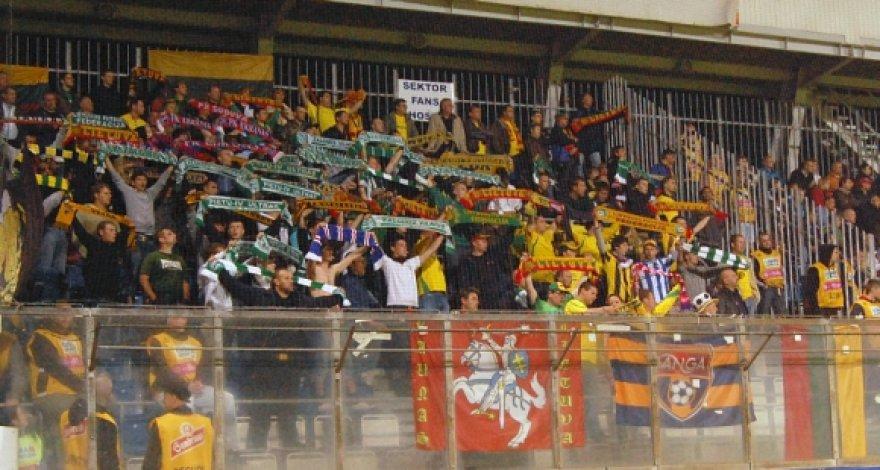 Lietuvos futbolo rinktinės fanai Čekijoje