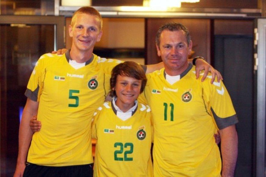 Mantas, Lukas ir Robertas Fridrikai