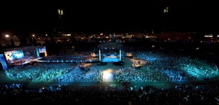 2009 m. žaidynių atidarymo akimirka