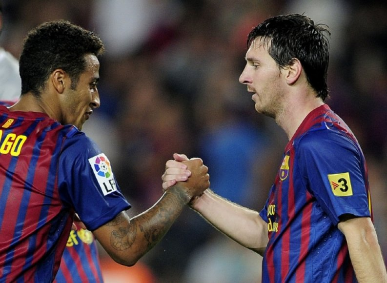 Thiago Alcantara (kairėje) ir Lionelis Messi