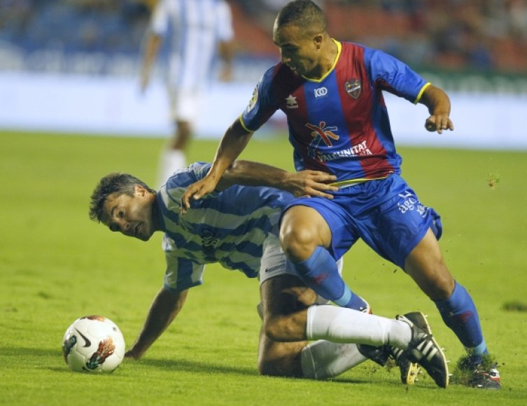 """Levante"" – ""Malaga"" rungtynių akimirka"