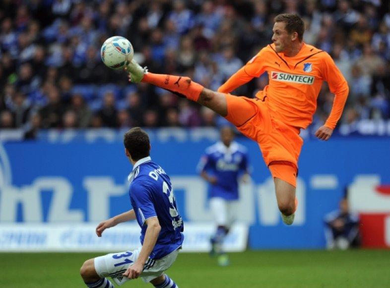 """Schalke"" – ""Hoffenheim"" rungtynių akimirka"