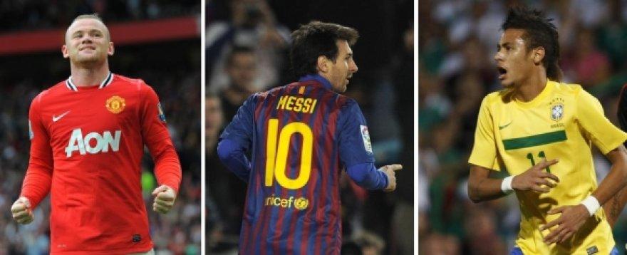 W.Rooney, L.Messi ir Neymaras