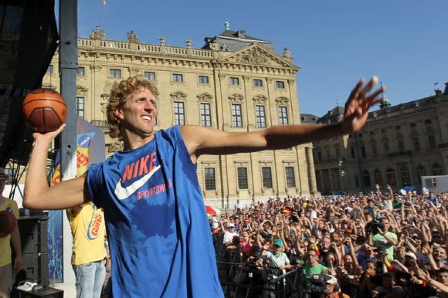 Dirkas Nowitzkis gimtajame Vurcburge