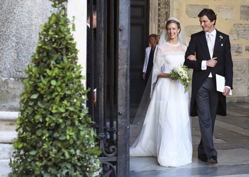 """""""Reuters""""/""""Scanpix"""" nuotr./Belgijos princas Amedeo ir Elisabetta Maria Von Wolkenstein Rosboch"""
