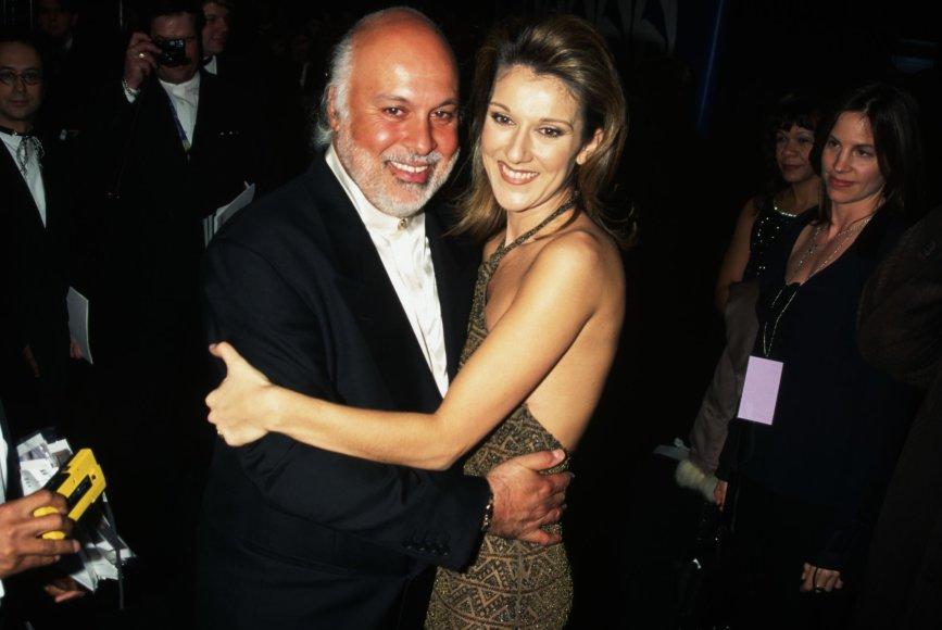 Vida Press nuotr./Celine Dion ir Rene Angelilis (1997 m.)