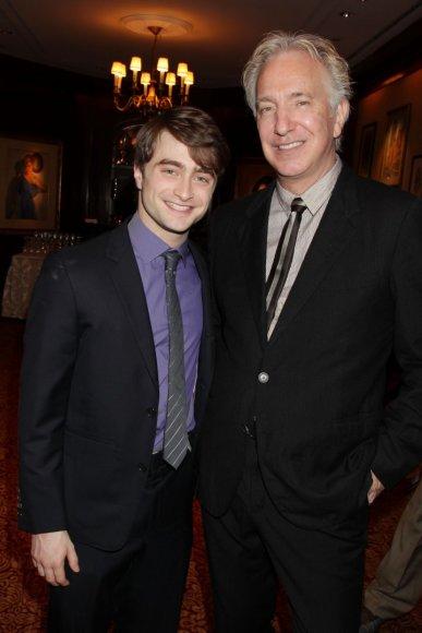 """""""Scanpix""""/AP nuotr./Danielis Radcliffe'as ir Alanas Rickmanas (2011 m.)"""