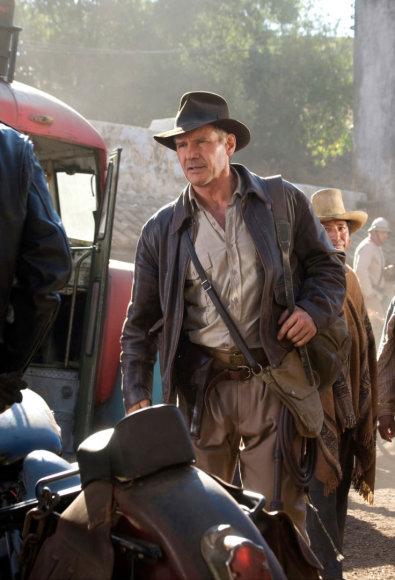 """""""Scanpix"""" nuotr./Harrisonas Fordas filme """"Indiana Džounsas ir krištolo kaukolės karalystė"""" (2008 m.)"""