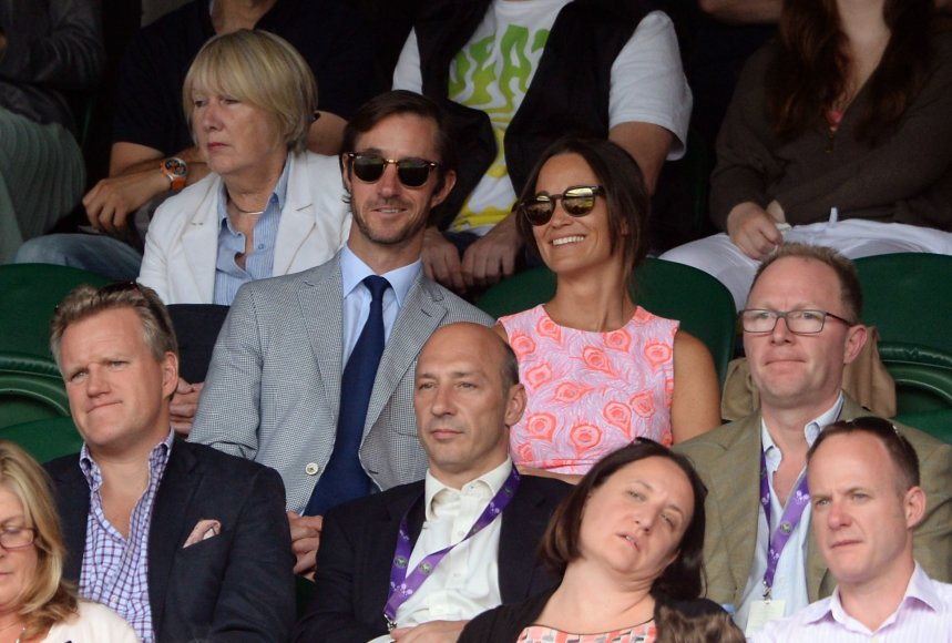 """Scanpix""/""PA Wire""/""Press Association Images"" nuotr./Pippa Middleton ir Jamesas Matthewsas"
