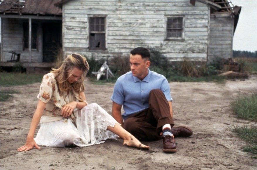 """Kadras iš filmo/Robin Wright ir Tomas Hanksas filme """"Forestas Gampas"""" (1994 m.)"""