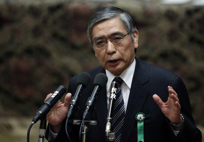 Japonijos centrinio banko vadovas Haruhiko Kuroda