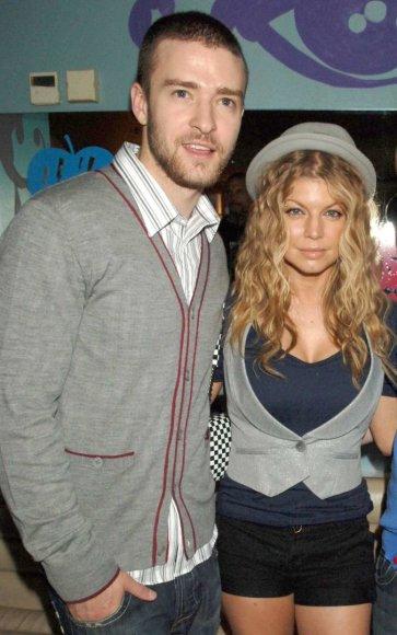 Vida Press nuotr./Justinas Timberlake'as ir Fergie 2007 metais