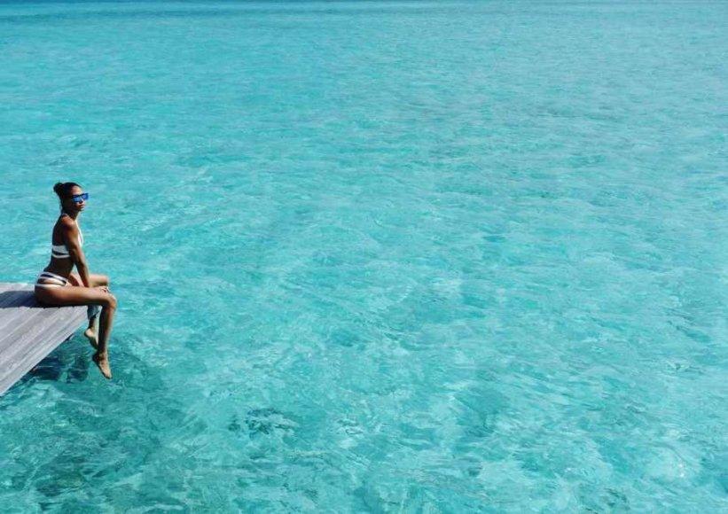 """Instagram"" nuotr./Joan Smalls atostogos Maldyvuose"