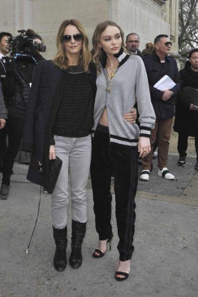 Vida Press nuotr./Vanessa Paradis su dukra Lily-Rose Depp