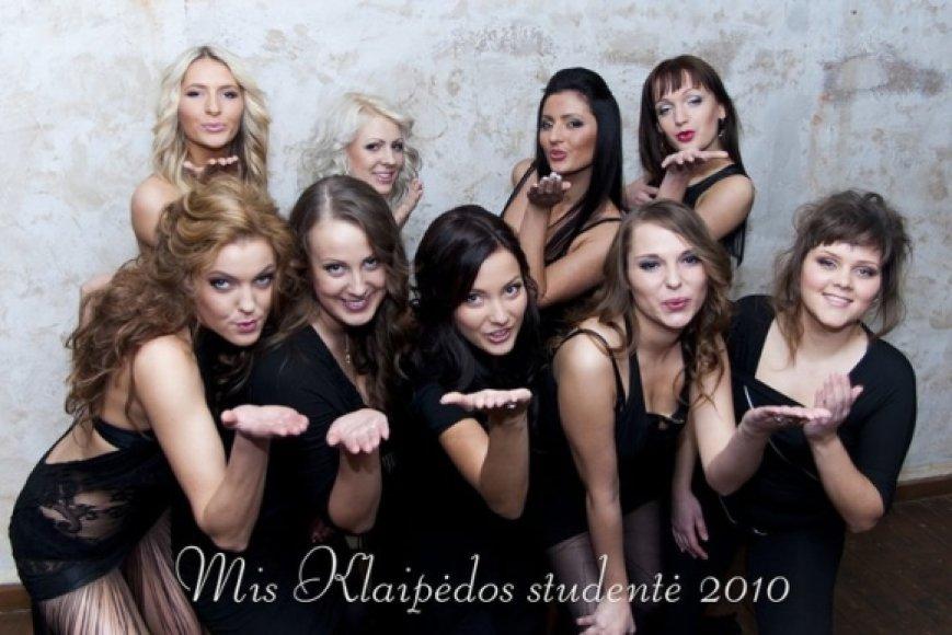 Mis Klaipėdos studentė 2010 dalyvės