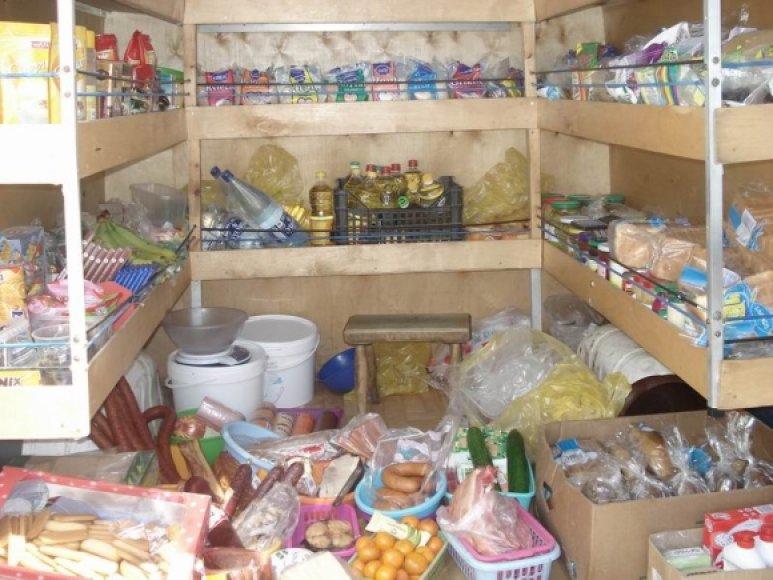 Netvarkingai laikomos prekės Rudaminos turguje