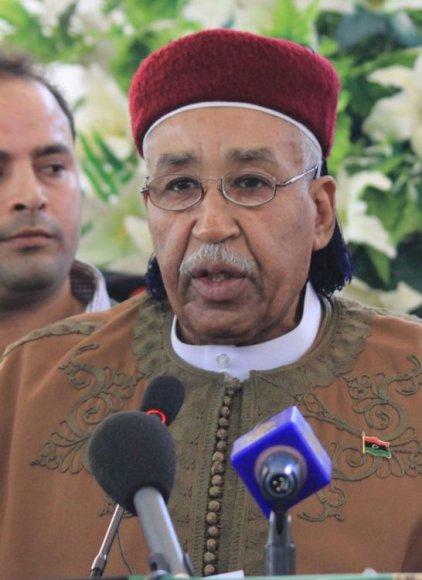 Kirenaikos laikinosios tarybos vadovas šeichas Ahmedas Zubairas al-Senussi