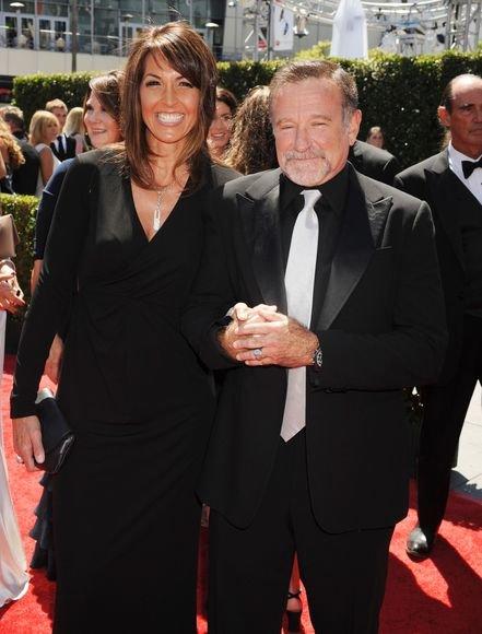 Aktorius Robinas Williamsas su žmona Susan Schneider 2010 m.