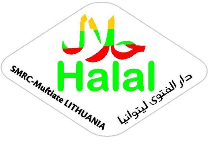 """Halal"" sertifiksto etiketė."