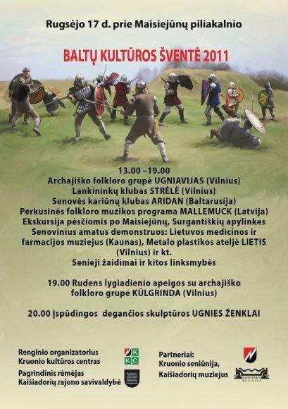 Prie Kruonio HAE vyks baltų kultūros šventė.