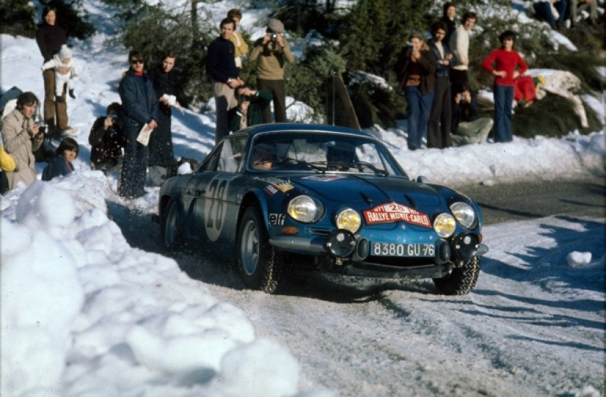 "1973 m., ""Renault Alpine A110"" Monte Karlo ralyje"