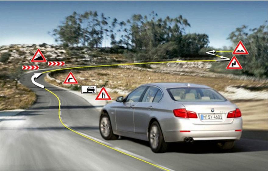 BMW transmisija, naudojanti GPS