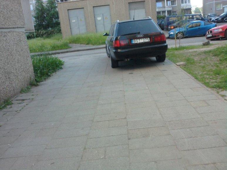 """Audi"" ant  šaligatvio"