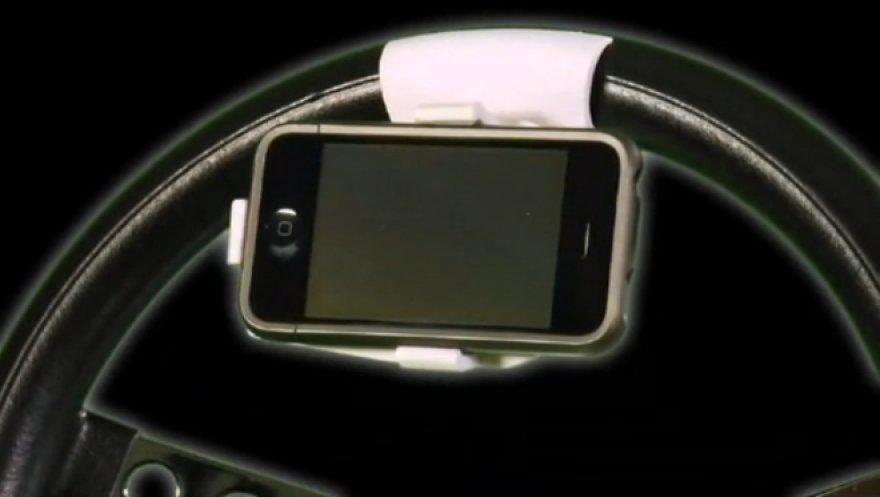 Telefono laikiklis ant vairo
