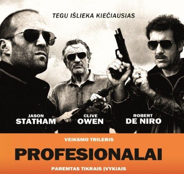 """Filmo """"Profesionalai"""" skrajutė"""