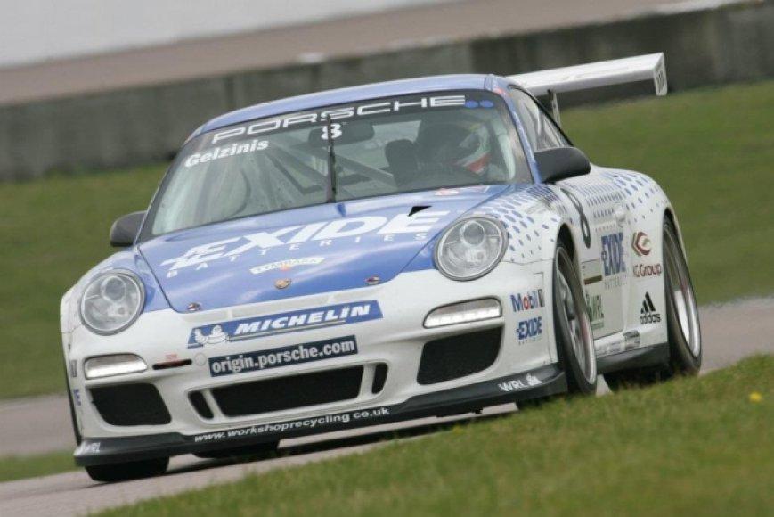 """Porsche Carrera Cup GB"" lenktynės ""Rockingham Motor Speedway"" trasoje"
