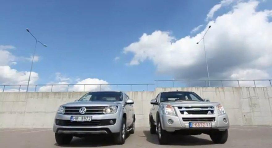 """""""Volkswagen Amarok"""" ir """"Isuzu D-MAX"""""""