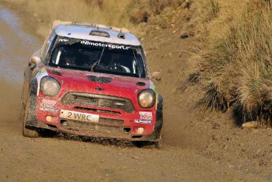 WRC Didžiosios Britanijos ralio akimirka