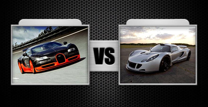 "Kova Nr. 4 ""Bugatti Veyron Super Sport"" ir ""Hennessey Venom GT"""