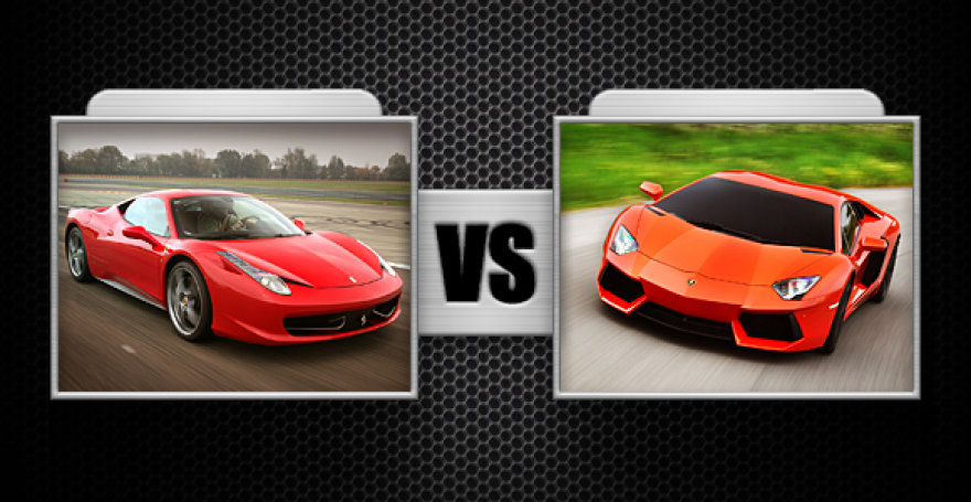 "Kova Nr. 8 ""Ferrari 458 Italia"" ir ""Lamborghini Aventador"""