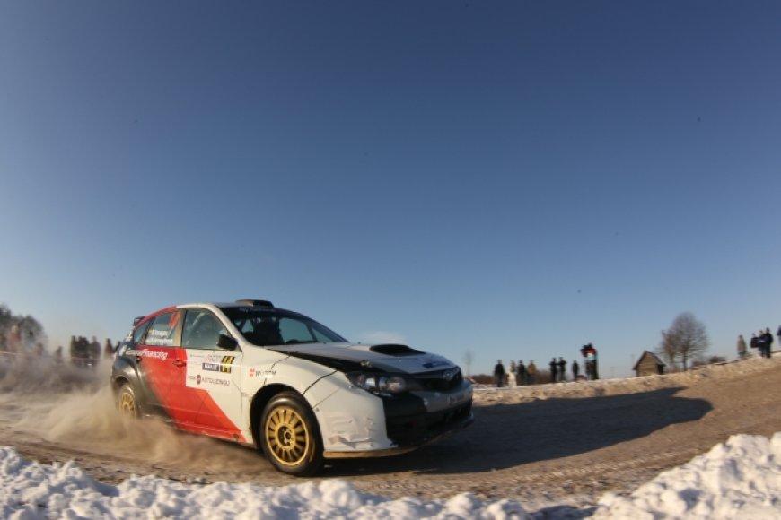 "Benediktas Vanagas/Irina Kolomeytseva, ""Subaru Impreza WRX STI"""