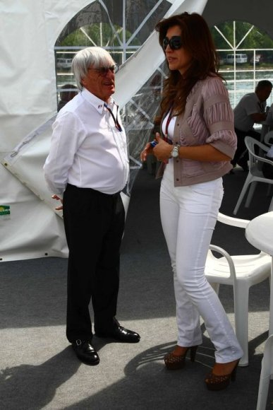 Bernie Ecclestone'as ir Fabiana Flosi