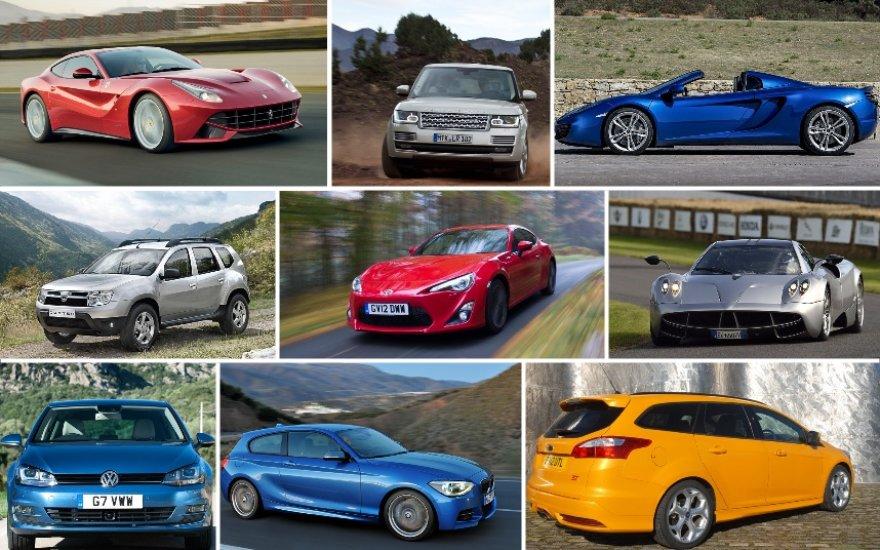 """""""Top Gear"""" metų automobiliai"""