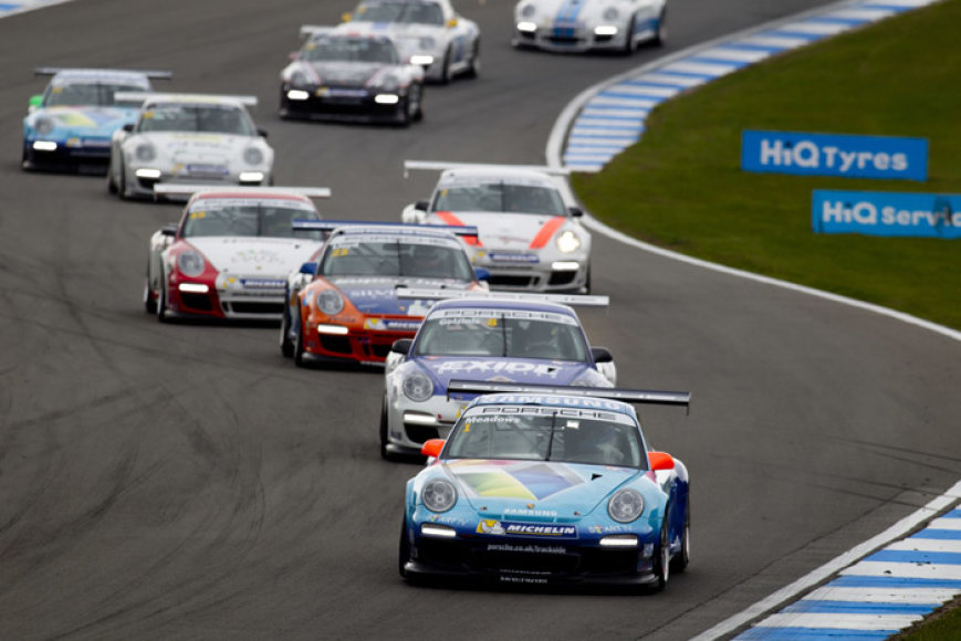"""Porsche Carrera Cup"" lenktynės Doningtono parko trasoje"