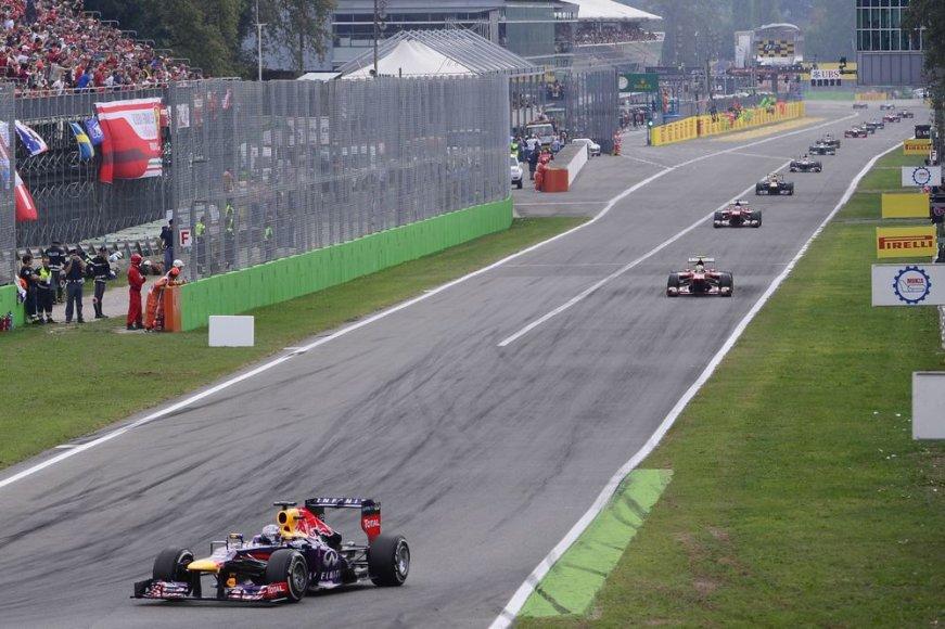 F-1 lenktynės Monzos trasoje Italijoje