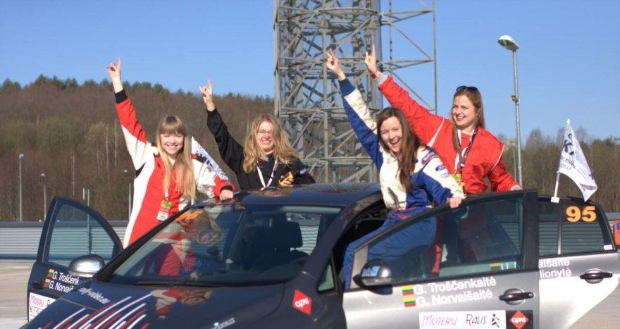 """""""Rally-video.eu"""" moterų ralio komanda"""