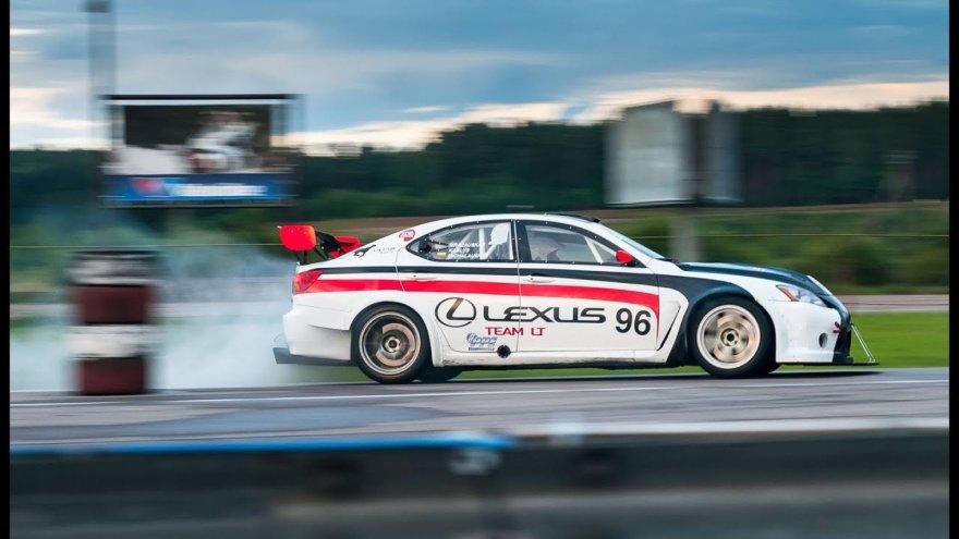 Lexus IS-F testai prieš lenktynes