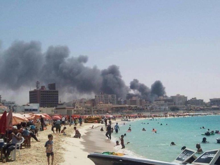 Vaizdas iš Mersa Matruho miesto paplūdimio.