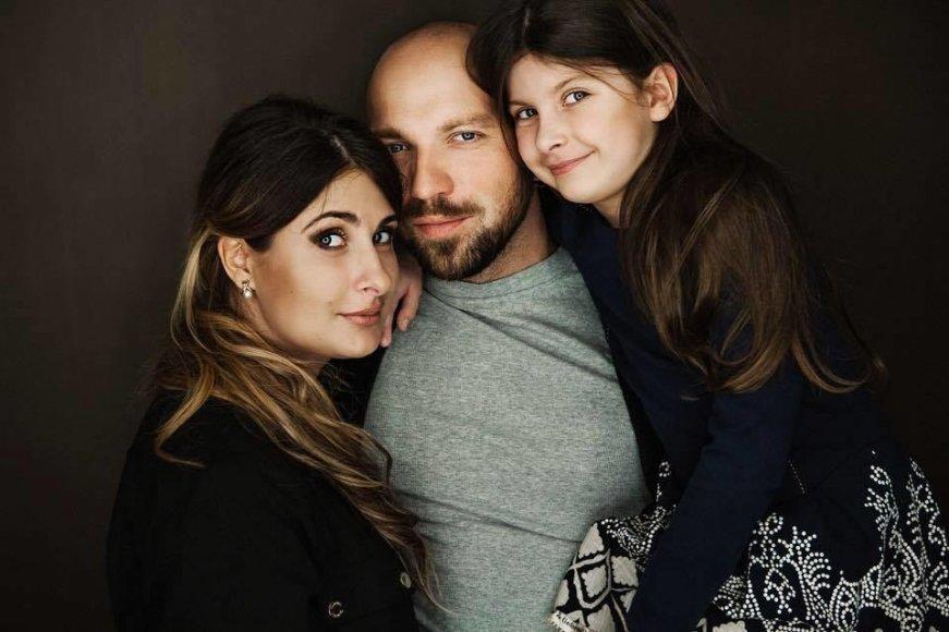 Asmeninio archyvo nuotr./Remigijus Žiogas su žmona ir dukra