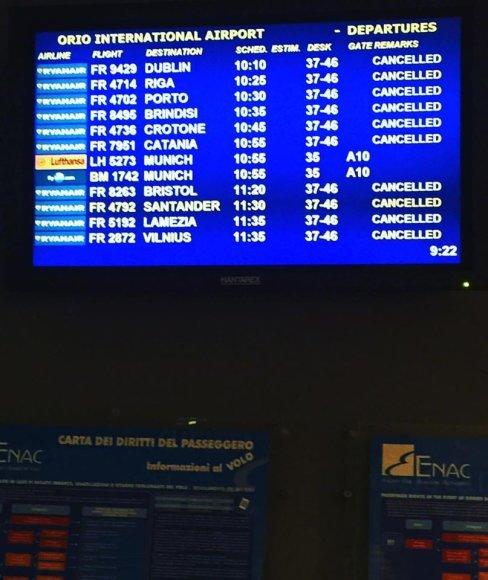 Asmeninio albumo nuotr./Vaidos Skaisgirės planus pakeitė streikas Bergamo oro uoste