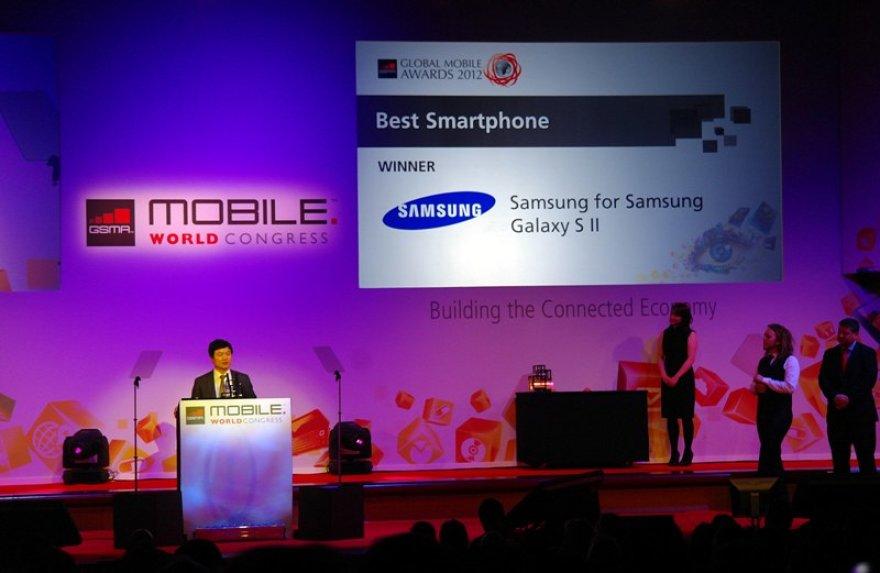 Akimirka iš Barselonoje vykstančio Pasaulio mobiliųjų technologijų kongreso