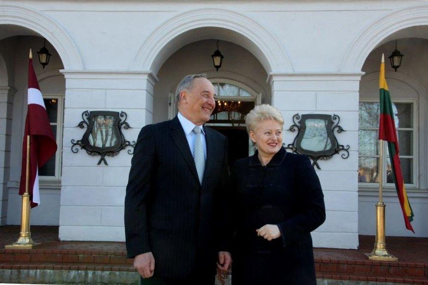 Latvijos prezidentas Andris Bėrzinis susitiko su Lietuvos prezidente Dalia Grybauskaite