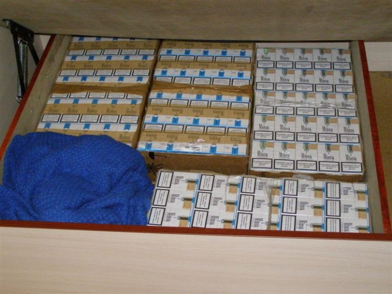 Kratos metu rastos kontrabandinės cigaretės