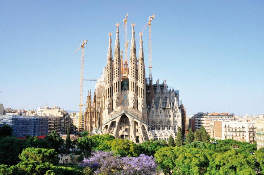 Vida Press nuotr./Antoni Gaudi suprojektuota Šv. Šeimos bazilika Barselonoje