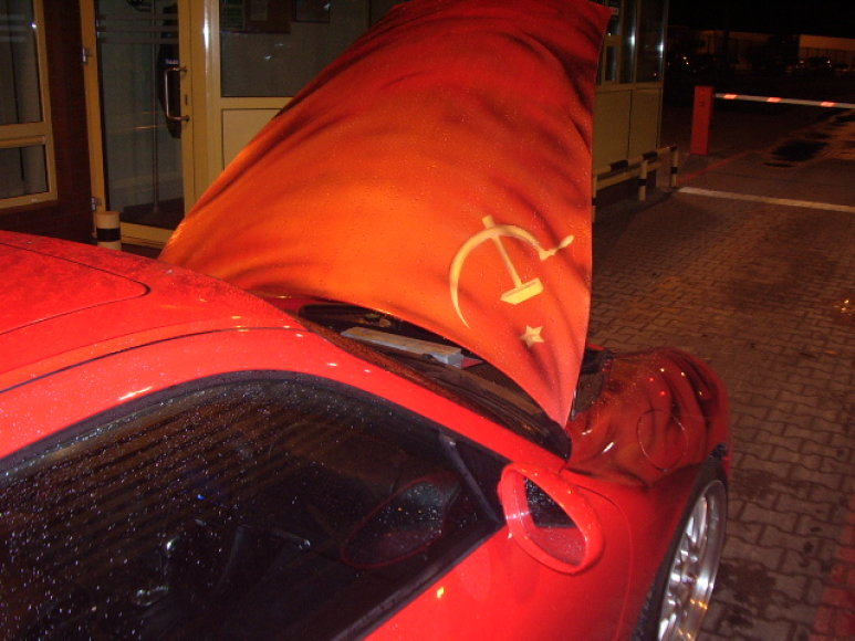 """Pasieniečių sulaikytas """"Porsche"""" automobilis"""